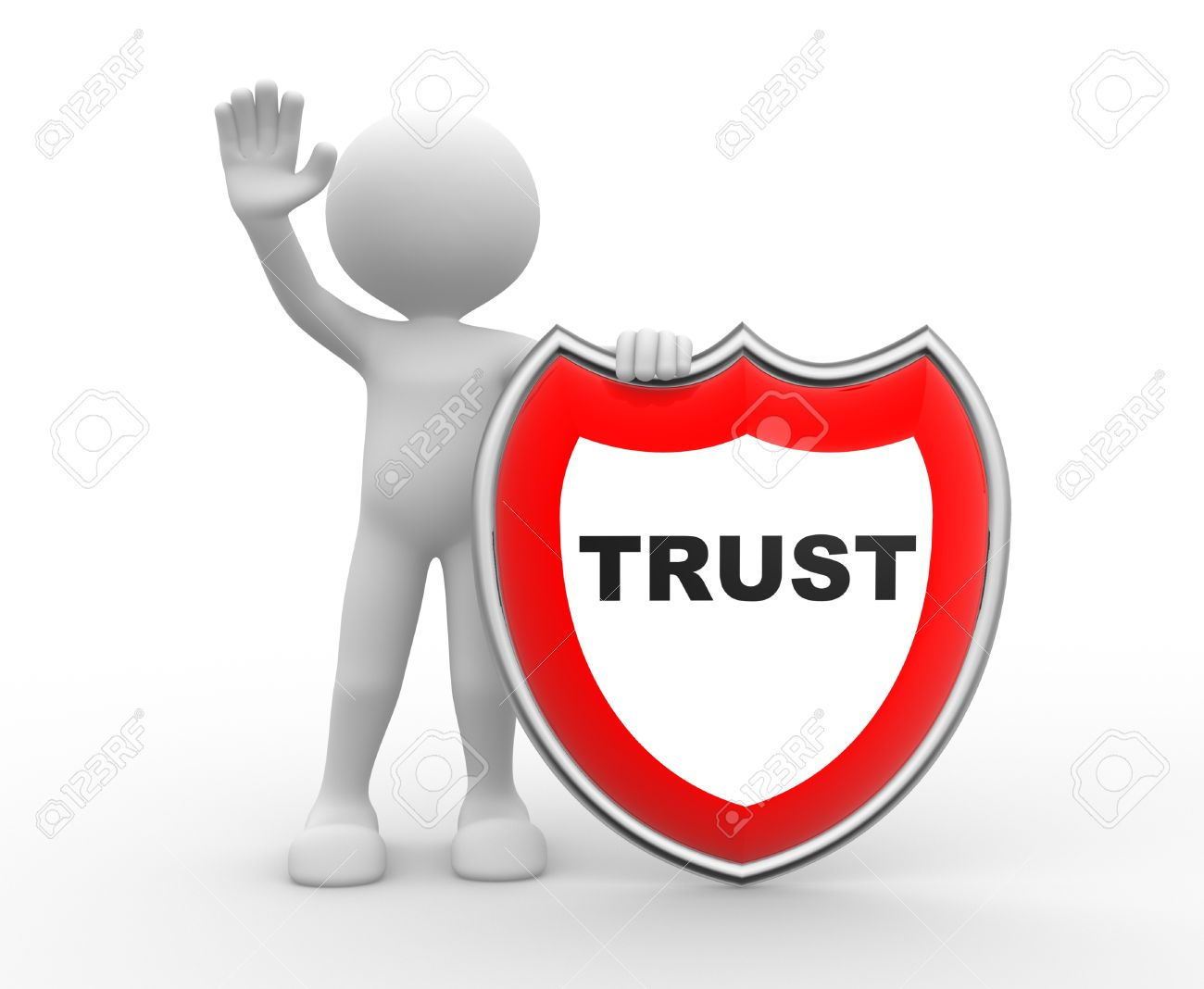 21138739-3d-people-man-person-with-a-shield-Trust-Stock-Photo-trust